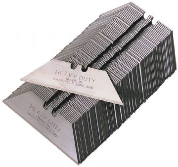 100 x Heavy Duty Straight Blades, 2 notch, cellophane wrapped, MADE IN SHEFFIELD